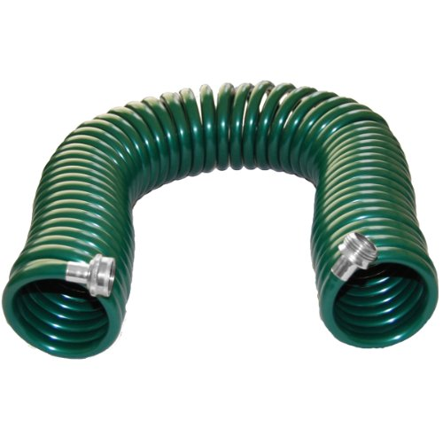 Plastair SpringHose PUWE650B94H-AMZ Light EVA Lead Free Drinking Water Safe Recoil Garden Hose, Green, 3/8-Inch by 50-Foot
