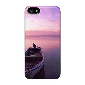 For Iphone 5/5s Fashion Design Lone Boat On A Peaceful Sea Case-qzXOA852LuxGb