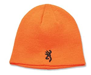 Browning Kenai Knit Beanie, Blaze Orange, Fitted