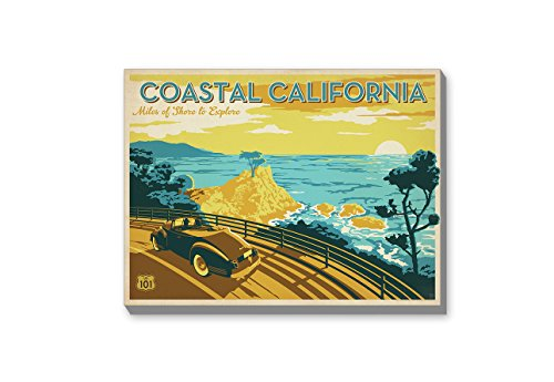 Americanflat Coastal California' Gallery Wrapped Canvas Artwork by Joel Anderson, 24