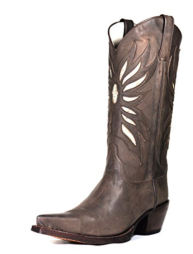 Tony Mora Cowboy Boots Damen Cowboystiefel Marbella Marron Ayers Beige 36