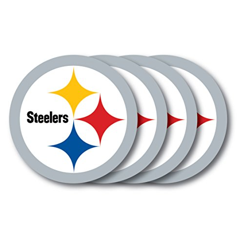 Duck House NFL Pittsburgh Steelers Vinyl Coaster Set (Pack of 4) by Duck House