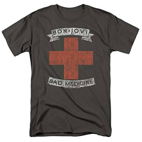 Bon Jovi Bad Medicine New Jersey Album Band T Shirt & Exclusive Stickers (XX-Large) ()