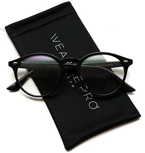 WearMe Pro - Prescription Round Clear Lens Plastic Fashion Glasses -