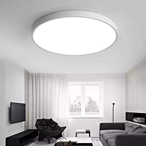 (Led Flush Mount Ceiling Light - Daylight White 28W Replace 240W Bulbs, 2100 Lumen 16 inch)