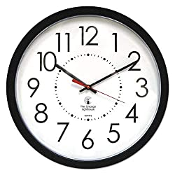 Electric Contemporary Clock, 14-1/2\, Black
