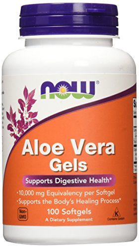 NOW Aloe Vera Gels, 10000mg,100 Softgels