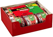 Scotch Tough Grip Moving Packaging Tape, 1.88 in. x 22.2 yd, 1.5 in Core, 6 Rolls with Dispenser per Pack, Tou
