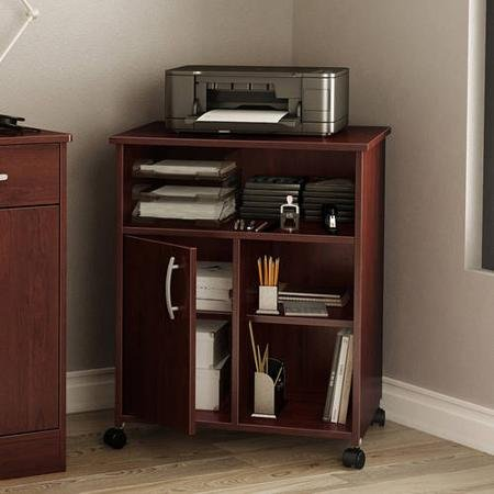 Contemporary Style South Shore Smart Basics Printer Stand (royal cherry)