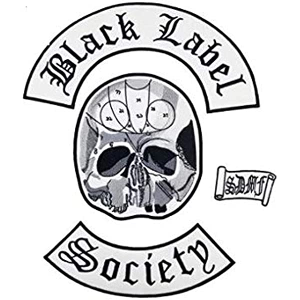 Black Label Society BLS ROCK MUSIC METAL WOVEN EMBROIDERED LOGO Patch Iron Sew