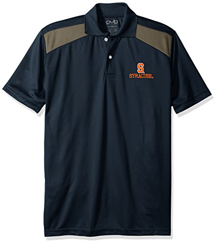 NCAA Syracuse Orange Men's CTR Logo Polo Shirt, Large, Navy/Charcoal