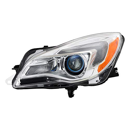 Buick Regal Headlight Replacement - Xtune Projector Headlights for Buick Regal 2014 2015 2016 2017 [For Factory Halogen] (Driver)