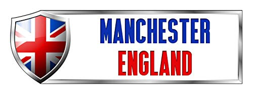 Makoroni - MANCHESTER, ENGLAND British England Country Nation Sticker Decal Car Laptop Wall Sticker Decal 3'by9' (Small) or 4'by12' (Large)