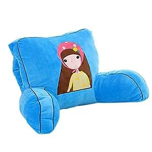 Amazon Com Mlotus Lovely Girls Blue Backrest Pillow
