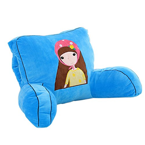 Mlotus Lovely Girls Blue Backrest Pillow Cushion Kids Bed Rest Pillows with Arms Hand Warmer 20