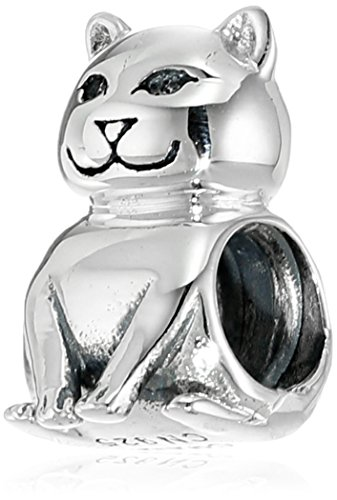 Chamilia Sterling Silver Cat Bead Charm