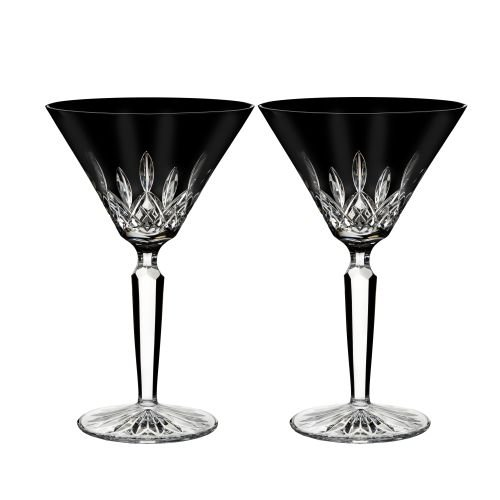 Waterford Lismore Black Set of 2 Crystal Martini Glasses]()