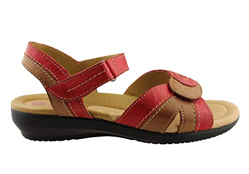 Sandals Flag Leather Planet Red Comfortable Shoes Multi Womens 4WBWqAfS