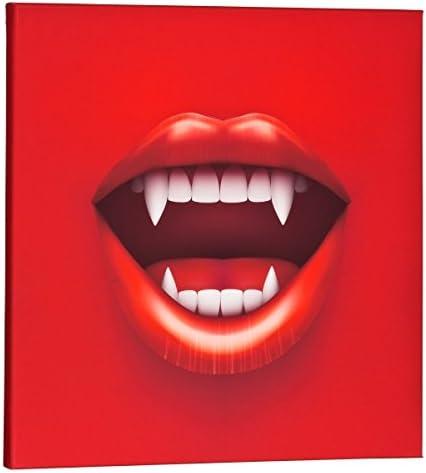 Parte ento Lienzo imágenes vampiro boca Rojo Cuadrado Vamp vampiro – cuadro de lienzo bastidor, 50 x 50 cm: Amazon.es: Juguetes y juegos