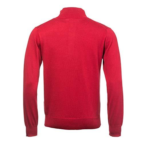 Hombre Red Gant De Mockneck Suéter Algodón Mahogny Deportivo Para HgwYq8H