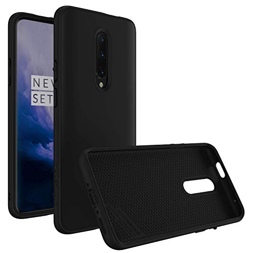 RhinoShield Case for OnePlus 7 Pro [SolidSuit]   Shock Absorbent Slim Design Protective Cover with Premium Matte Finish [3.5M/11ft Drop Protection] - Classic Black