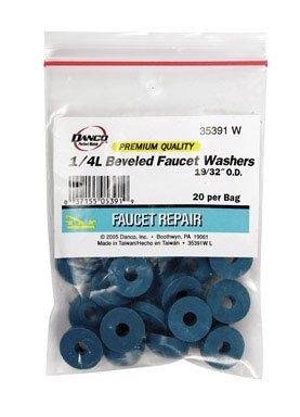 Danco 35391W 1/4L Beveled Premium Faucet Washer 20/Bag