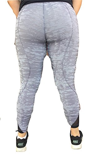 5946d6f49 Lululemon Inspire Tight II Mesh Luxtreme Silver Jacquard Black White
