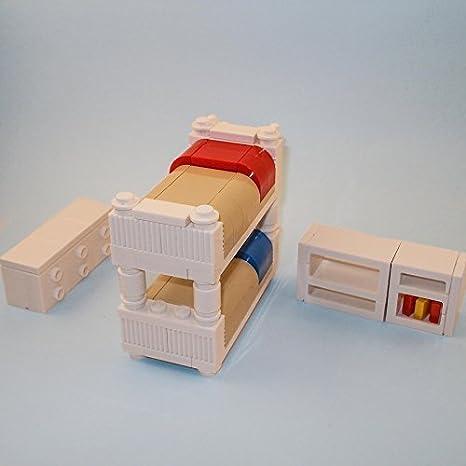 LEGO Furniture: Kids Bedroom Set W/ Bunk Bed, Dresser U0026 Shelving