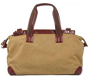 Large Canvas Leather Travel Tote Luggage Hobo Weekender Duffel Satchel Handbag