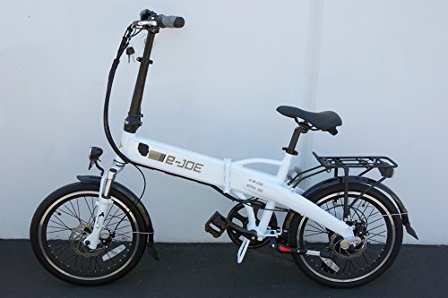 2017 e-Joe Epik SE Sport Edition Electric Bicycle Electric Folding Bike ++FREE GIFT 16000mAh Solar Dual USB Phone Charger Power Bank (Frosty White) Best Price