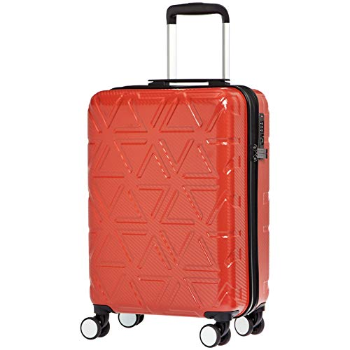 - AmazonBasics Pyramid Hardside Carry-On Luggage Spinner Suitcase with TSA Lock - 20 Inch, Red