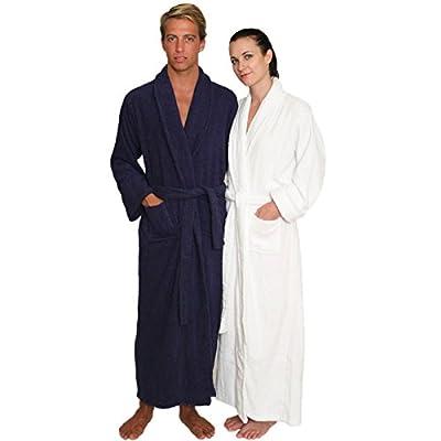 NDK New York Full Length Terry Cloth Bathrobe for Men and Women 100% Cotton
