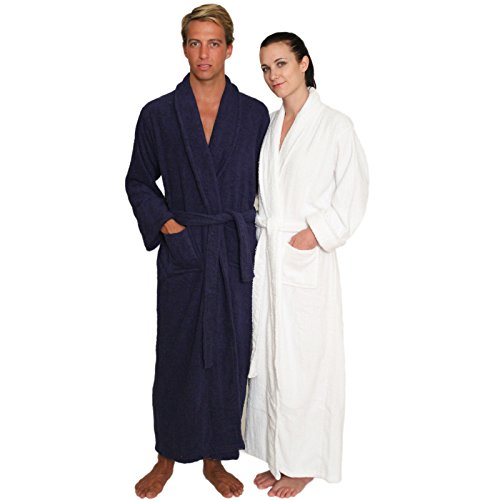 5d3541cd87 NDK New York Full Length Terry Cloth Bathrobe for Men and Women ...