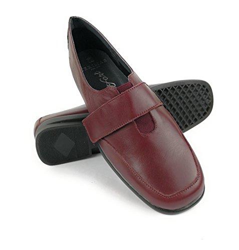 b1193037a759 Pour Chaussures Confort 36 En Taille Couleur Zerimar Femme Bordeaux Cuir  6tqxSpwd7w