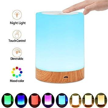 Caxmtu - Lámpara LED para mesilla de Noche (Recargable ...