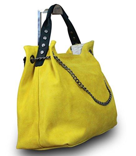 My-Musthave, Borsa tote donna Giallo giallo Medio