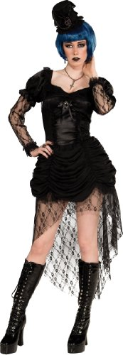 Rubie's Costume Bloodline Twisted Whispers Gothic Dress and Hat, Black, Large - Gothic Costumes