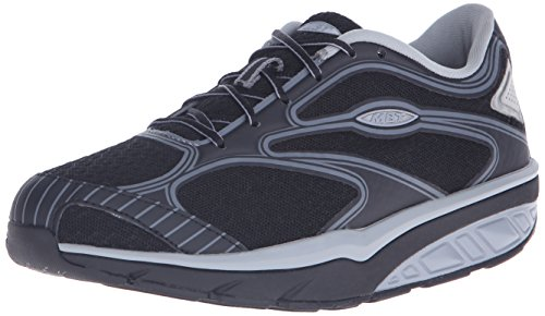 MBT Women's Afiya 5S Walking Shoe - Black/Silver/Steel - ...