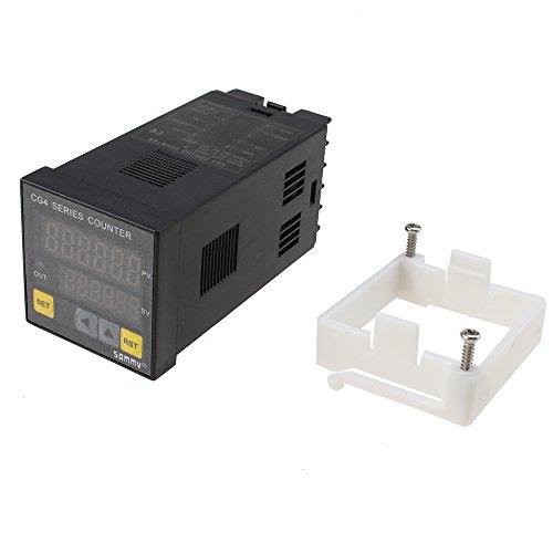 AGPtek® DIN Digital Counter 100-240V Relay (Power Supply:220V/110V , Relay Capacity: 250VAC/3A)