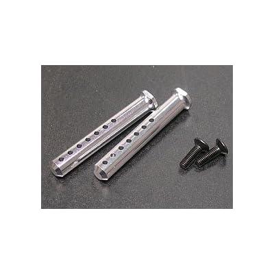 3RACING Integy RC Model Hop-ups 3RAC-BP40/SI Aluminium Body Post 40mm - Silver