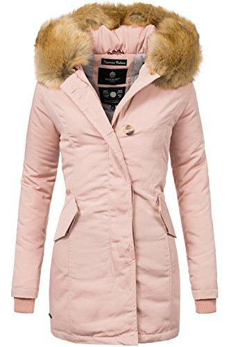 Marikoo Karmaa Abrigo de Invierno para Mujer XS-5XL 15 Colores XS-XXL Rose