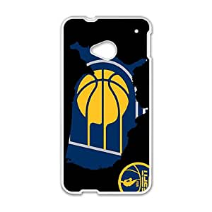 Indiana Pacers NBA White Phone Case for HTC One M7