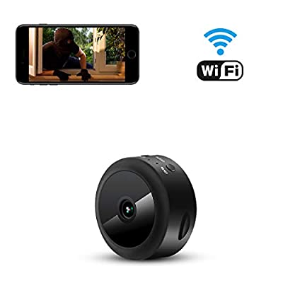 AOBO Spy Camera WiFi Hidden Camera Mini Wireless HD 1080P Indoor Home Small Spy Nanny Cam Security Cameras Battery Powered with Motion Detection/Night Vision for iPhone/Android Phone/iPad/PC from Aobo en Technology