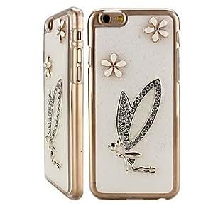 WQQ patrón de diseño libélula diamante contraportada caso duro para el iphone 6