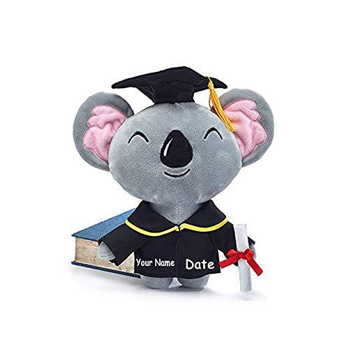 Burton & Burton Personalized Graduation Koala Bear with Diploma and Cap Plush Stuffed Animal Toy for Boys and Girls with Custom Name and Date (Optional)]()