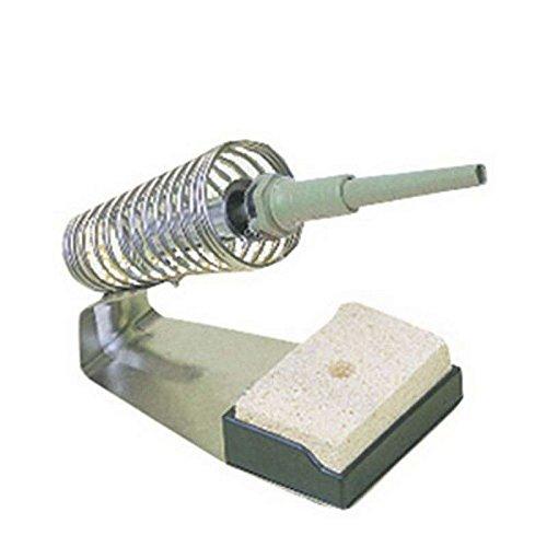 Plated Steel Soldering Iron Holder with Solder Sponge
