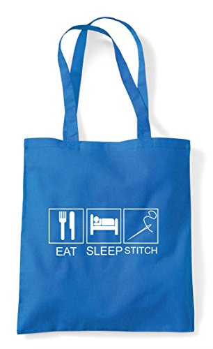 Eat Hobby Bag Activity Tiles Funny Sleep Sapphire Stitch Tote Shopper rq40BwrIWR