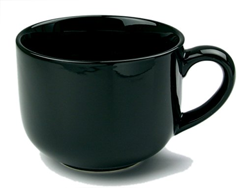 Extra Large Coffee Mugs - 24 ounce Extra Large Latte Coffee Mug Cup or Soup Bowl with Handle - Black