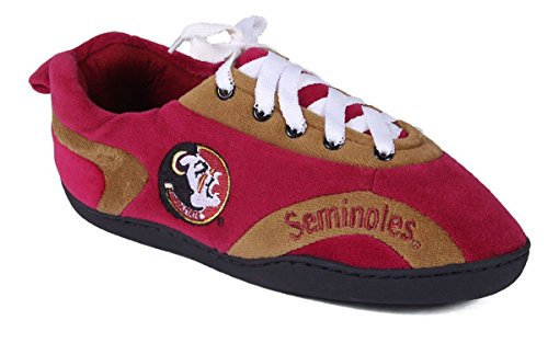 FSU05-3 - Florida State Seminoles - Large - Happy Feet Mens and Womens All Around Slippers