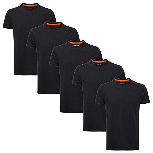 Unis Rond Pack T De Plain Black À shirts 5 Col Wilson Charles Aq1aYY